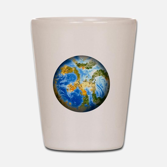 one people . one planet . one home Shot Glass