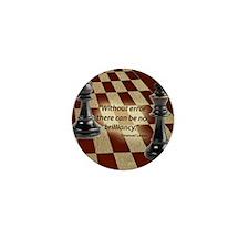 Chess Quote- Brilliance Mini Button