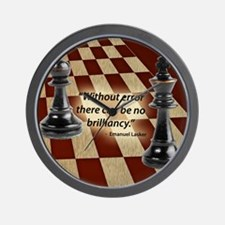 Chess Quote- Brilliance Wall Clock