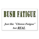 Bush Fatigue Rectangle Sticker