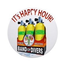 Band of Divers Happy Hour Round Ornament