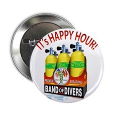 """Band of Divers Happy Hour 2.25"""" Button"""