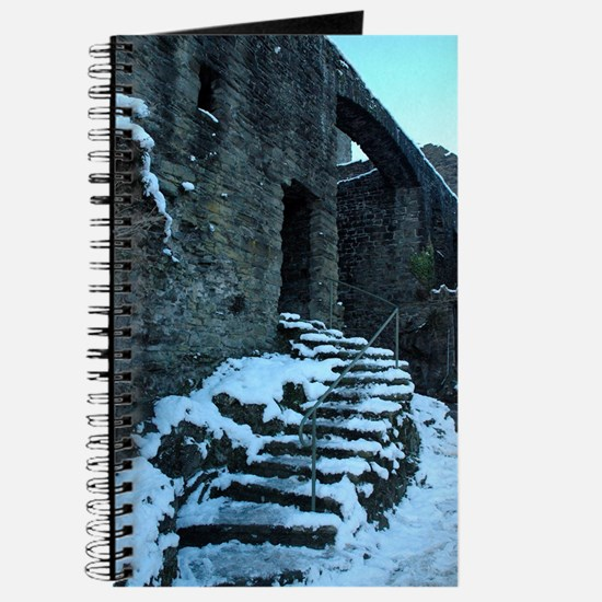 Icy Steps at Conwy Castle, Wales Journal