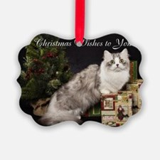 Napoleon Cat Christmas Card Ornament