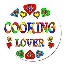 Cooking Lover Round Car Magnet