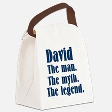 David The man. Canvas Lunch Bag