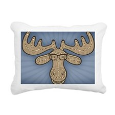moose-nerd-STKR Rectangular Canvas Pillow