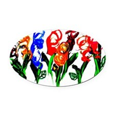 flowers Oval Car Magnet