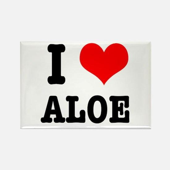 I Heart (Love) Aloe Rectangle Magnet