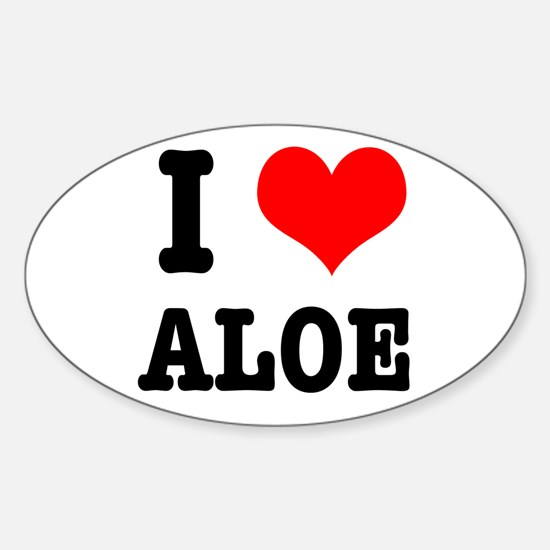 I Heart (Love) Aloe Oval Decal