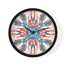Blue Orange Kaleidoscope Wall Clock