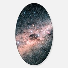 Starfield centred on the constellat Sticker (Oval)
