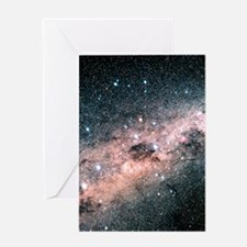 Starfield centred on the constellati Greeting Card