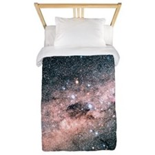 Starfield centred on the constellation  Twin Duvet