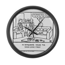 Sit On The Floor Large Wall Clock