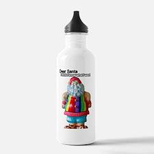 Dear Santa Christmas Water Bottle