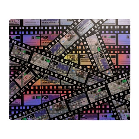 Photographic film, computer artwork Throw Blanket