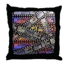 Photographic film, computer artwork Throw Pillow