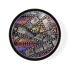 Photographic film, computer artwork Wall Clock
