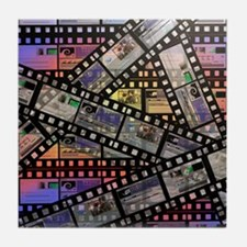 Photographic film, computer artwork Tile Coaster