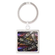 Photographic film, computer artwor Square Keychain