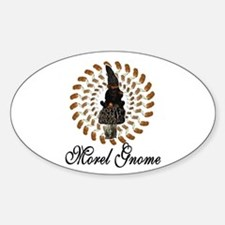 the morel gnome Oval Decal