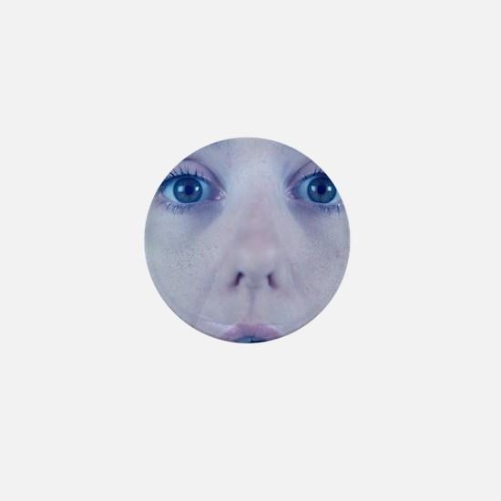 Surprised woman Mini Button