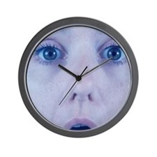 Surprised woman Wall Clock