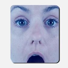 Surprised woman Mousepad