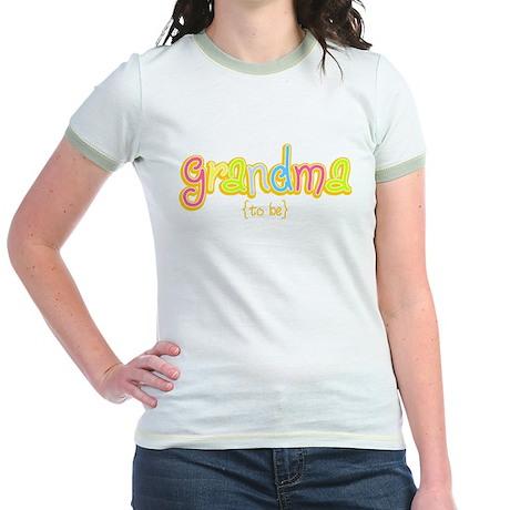 Grandma to Be Jr. Ringer T-Shirt