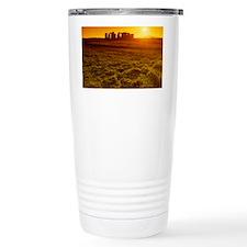 Stonehenge at sunset Travel Mug