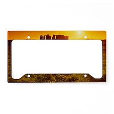 Stonehenge at sunset License Plate Holder