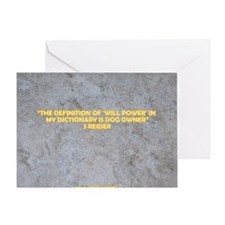 THE DEFINITION OF WILL POWER Greeting Card