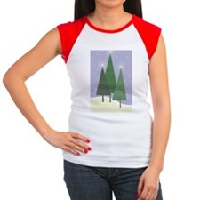 Christmas Trees Women's Cap Sleeve T-Shirt