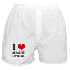 I Heart (Love) Alkaline Batteries Boxer Shorts