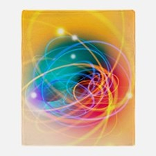 Subatomic particles abstract Throw Blanket
