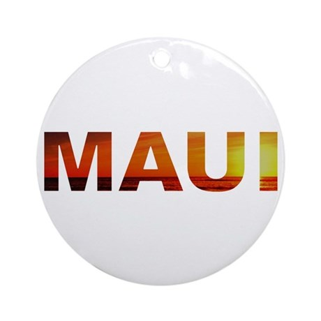 Maui, Hawaii Ornament (Round)