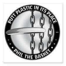 "Phil The Basket Square Car Magnet 3"" x 3"""
