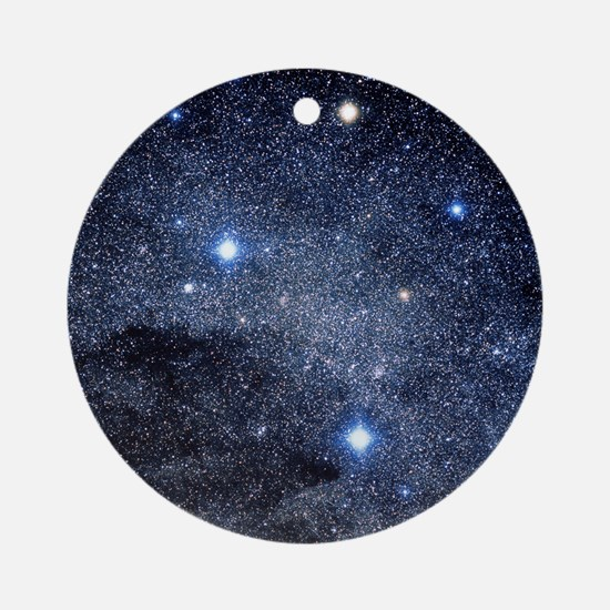 The constellation of the Southern C Round Ornament
