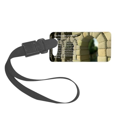 The Principle of the Arch Small Luggage Tag