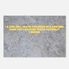 A DOG WILL TEACH YOU MORE Postcards (Package of 8)