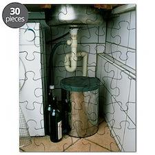 View beneath a kitchen sink Puzzle