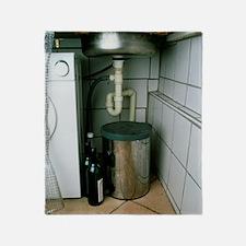 View beneath a kitchen sink Throw Blanket