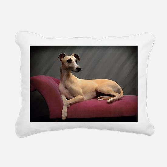 Whippet Lounge Rectangular Canvas Pillow