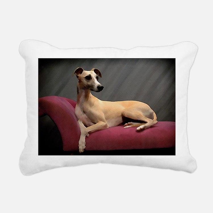 Whippet Lounge Rectangular Canvas Pillow