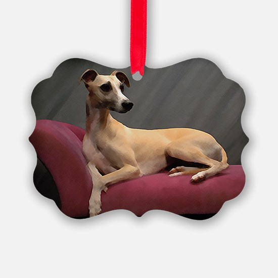 Whippet Lounge Ornament