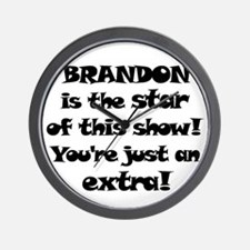 Brandon is the Star Wall Clock