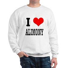 I Heart (Love) Alimony Sweatshirt