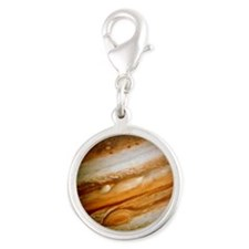 Voyager 1 colour-enhanced imag Silver Round Charm