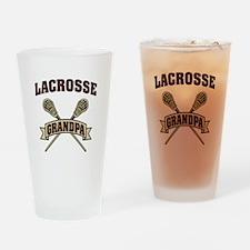 Lacrosse Grandpa Drinking Glass